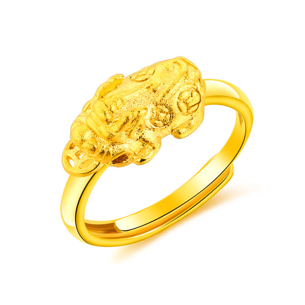 Classic Gold Ring Women Chinese Traditional Style Gold Color Wedding Bands Rings for Female Jewelry Gifts KJ079