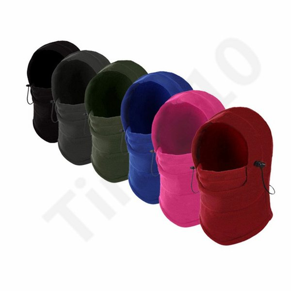 10 Colors Outdoors Riding Full Face Mask Wind Hat Balaclava Motorcycle Cap Sunscreen Warm Winter Hats Face Mask 50pcs T1I1032