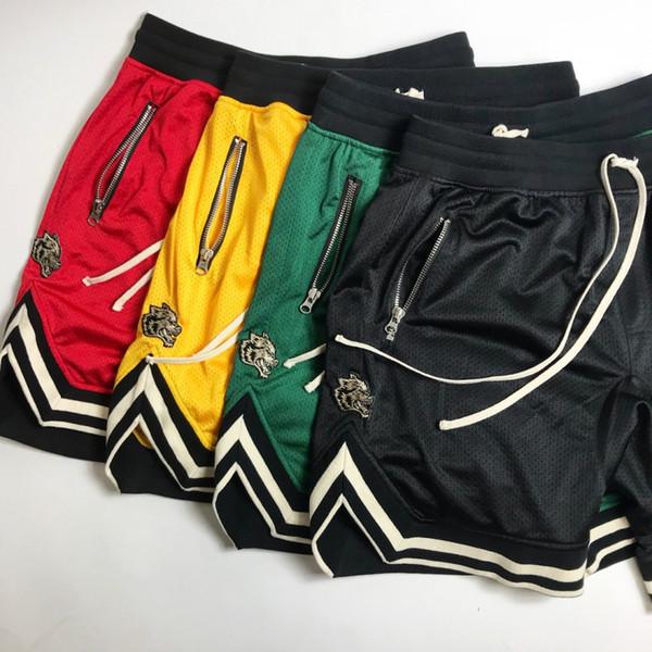 Yaz ince Spor basketbol şort örgü kısa pantolon erkek güçlü adam koşu eğitim nefes spor kurt pantolon