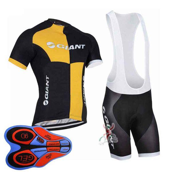 Giant team Cycling Short Sleeves jersey (bib) shorts sets Breathable Racing Bicycle Cycling Clothing ropa ciclismo 10416J