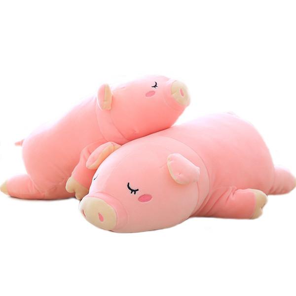 1 pc 30 cm Adorável Porco Dormir Brinquedos de Pelúcia Macia Stuffed Animals Rosa Piggy Plush Dolls Travesseiro para Crianças Meninas Presentes