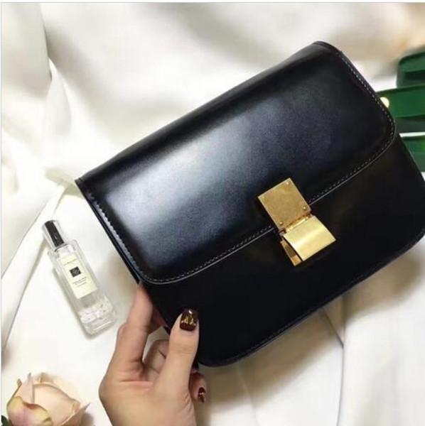 top popular 2018 new ladies classic box tofu bag leather chain bag retro postman Messenger bag mini practical quality handbags 2019