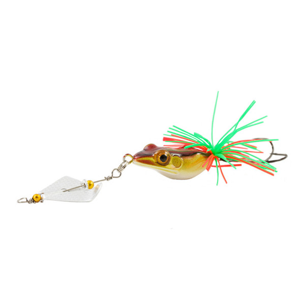 Artificiais Para Pesca Hard Fishing Lure With Propeller Large Noise Topwater Isca Frog Lure 140mm 11g Pesca Frog