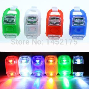 1pcs Mini Waterproof Silicone mountain Bike Light Cycling Beetle Warning lights Front Rear Tail Lamp Bicycle accessories