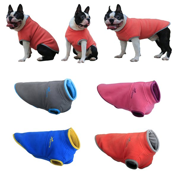 Winter Pet Clothes For Small Medium Dogs Puppy Clothing Chihuahua Coat Jackets Pug Costumes Warm Fleece Vest For French Bulldog