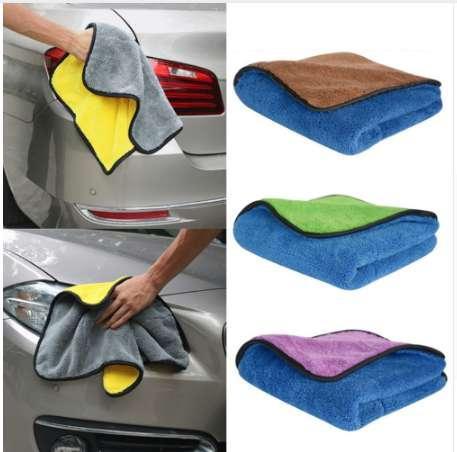 Paño de microfibra gruesa de felpa Paños de limpieza Cuidado del automóvil Cera Pulir Toallas Microfibra Toalla de lavado de terciopelo bidimensional