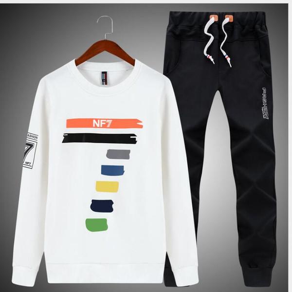 Плюс размер M-4XL мужчины весна осень одежда набор 2018 новая мода повседневная мужские костюмы толстовка + брюки одежда наборы спортивные костюмы