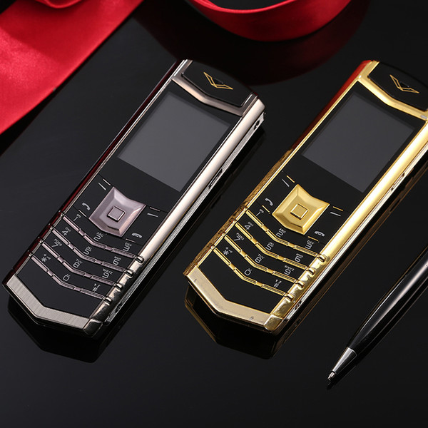 Unlocked M6i Leather bar Luxury long standby bluetooth dial cell phone mp3 mp4 FM radio Stainless steel metal body Quad band mobile phone
