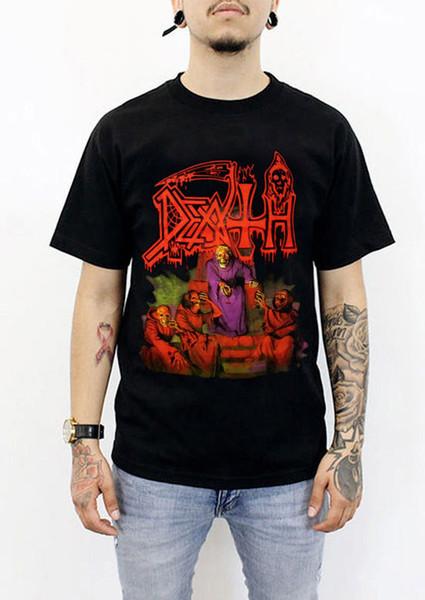 1DEATH 1SCREAM BLOODY GORE T-Shirt Özel Kısa Kollu Tüm Erkekler% 100% Pamuk
