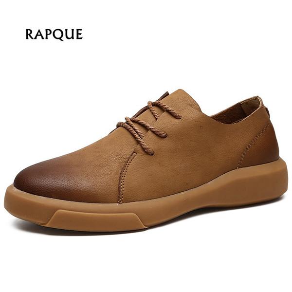 Big Size Brogues Business Oxford Schuhe aus echtem Leder Herrenschuhe Designer Turnschuhe Outdoor-Wanderer Loafers rutschfest 37-47