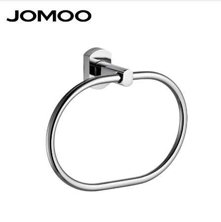top popular JOMOO Towel Ring Round Shape Wall Mounted Washcloth Holder Hanger Zinc Alloy Bathroom Accessories Chrome Bath Towel Bar 2021