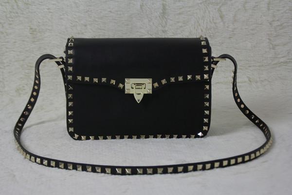 TOP Rivetto Incontri Data Black Valentine Borse in vera pelle Big Bag 2019 New Fashion Borsa a tracolla Borsa Lady Golden