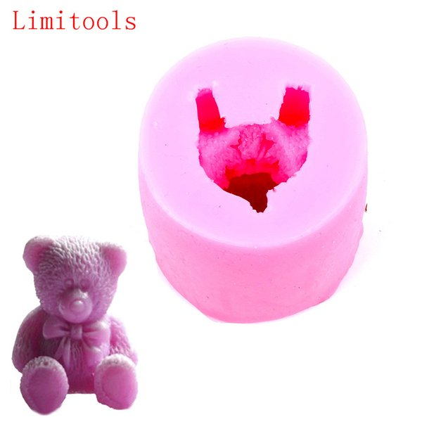 Animal Teddy Bear shape Silicone Fondant Soap 3D Cake Mold Cupcake Jelly Candy Chocolate Decoration Baking Tool Moulds