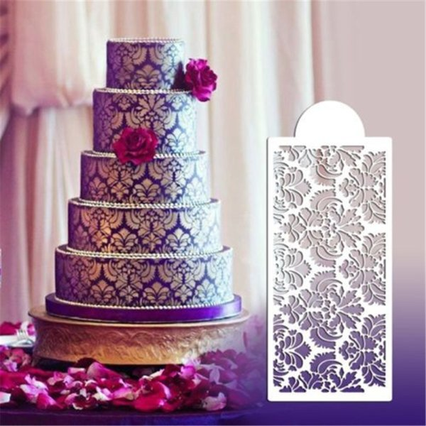 Lace Flower Cake Stencil DIY Cake Spray Fondant Template Cookie Decorating Mold Kitchen Baking Tool LXW4306