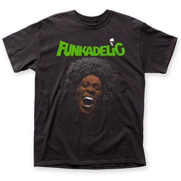 Authentic Funkadelic Livre Sua Mente Álbum George Clinton T-shirt Camisetas Hipster O-pescoço O-pescoço T Shirt Homens