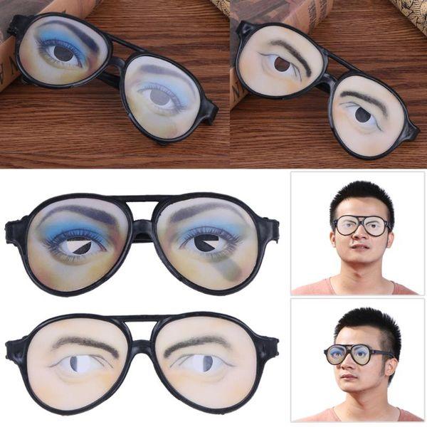 47de9dbd9 Dia das bruxas Óculos Engraçado Traje Óculos de Olho April Fools'Day  Brinquedo Adereços Mordaça