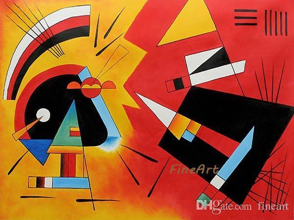 Wassily Kandinsky Malerei Reproduktion berühmte Künstler Leinwand Ölgemälde Kunst Stücke Schwarz und Violet Wohnzimmer Dekoration Wandkunst