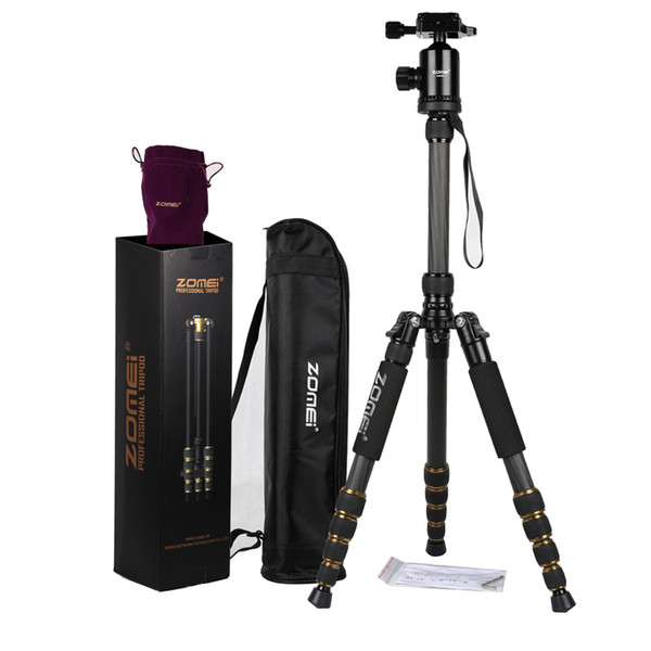 ZOMEI Z699C Carbon Fiber Alloy Portable Tripod Monopod with Ball Head Carry Bag Compact Travel for Digital SLR DSLR Camera