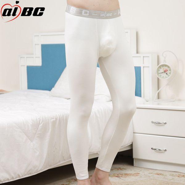 Men Warm U Convex Pouch Underpants Winter Warm Men Long Johns Thick Thermal Underwear Man High Waist Leggings Pantalon
