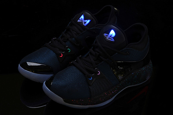 2018 New Lights UP PG 2 Chaussures de basket-ball Master PlayStation Taurus Road pour Paul George II PG2 2s PS Baskets de sport athlétiques taille 40-46