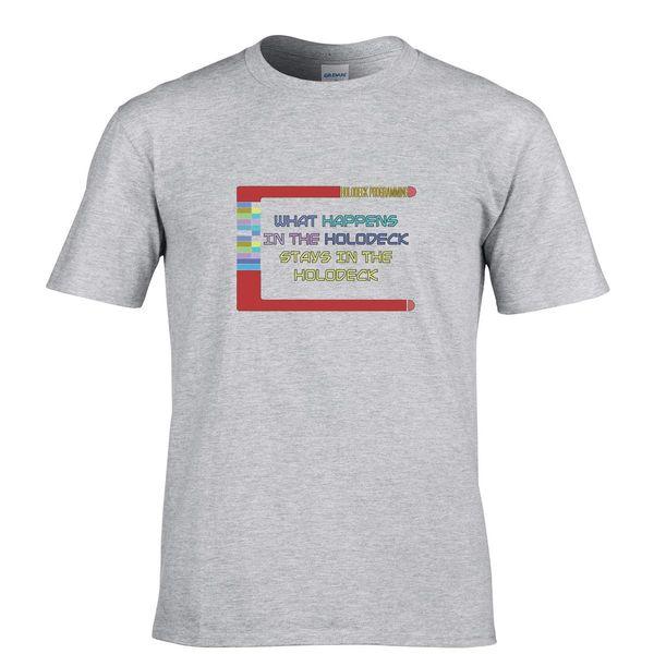 Funny Mens T Shirt What Happens Dans Le Holodeck Geek Ringard