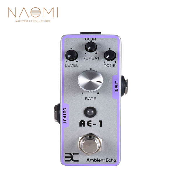 NAOMI Guitar Effect Pedal ENO EX AE-1 Electric Guitar Ambient Echo Effect Pedal Full Metal Shell True Bypass Guitar Accessories