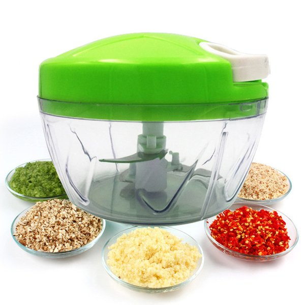 Multifunctional 500ML Hand Pulled Manual Vegetable Cutter Kitchen Food Grinder Tool Hand Chopper Manual Rope Food Processor Silcer NB