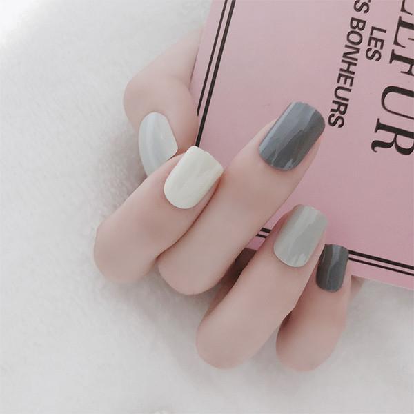 T10 false nail sets pure colour jump color artificial nail false