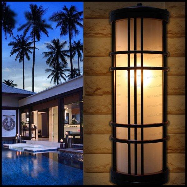 Европейский стиль сельский внешний настенный светильник открытый балкон Балкон вилла крытый и открытый двор патио лампа цилиндр настенный светильник LLFA