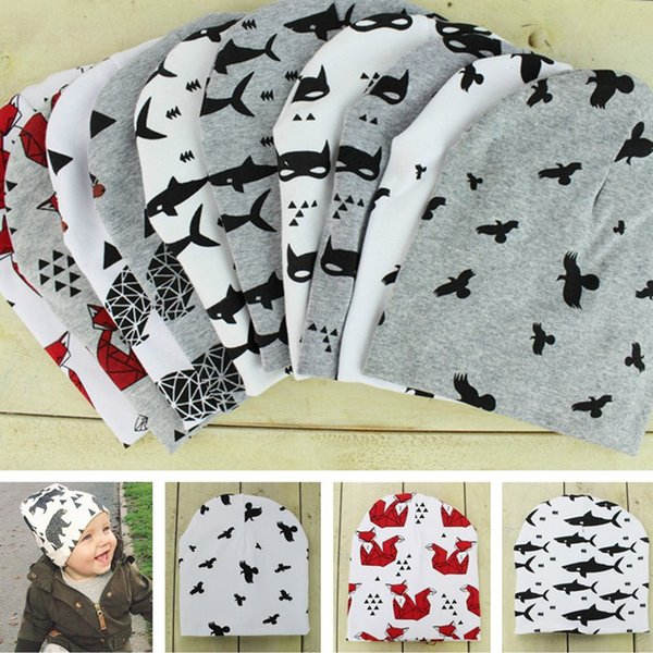 Cheap beanie infant cap hat cartoon baby caps hats warm newborn winter hats kids boys and girls Printing hat 616