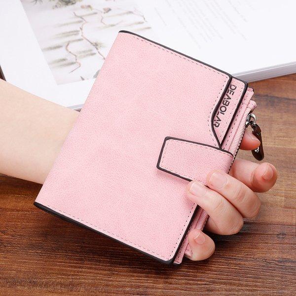 Giappone e Corea del Sud breve portafoglio femminile retrò con cerniera smerigliata fibbia piccola moneta borsa moda casual pacchetto portafoglio selvaggio della carta