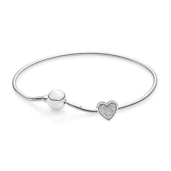PASINIYA 100% 925 Sterling Silver Jewelry New love Bracelet Exquisite Romantic Set Elegant Ladies Exclusive