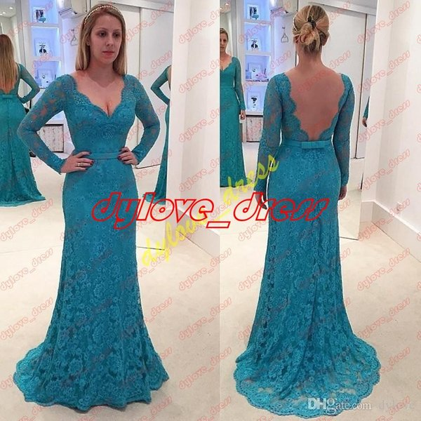 2018 sexy plus size mother of the bride black girl prom dresses backless formal evening gowns long sleeves mermaid dresses red prom dresses