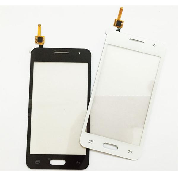 Sensor de tela sensível ao toque para samsung galaxy core 2 ii core2 sm-g355h g355 tela de toque digitador painel de vidro da frente