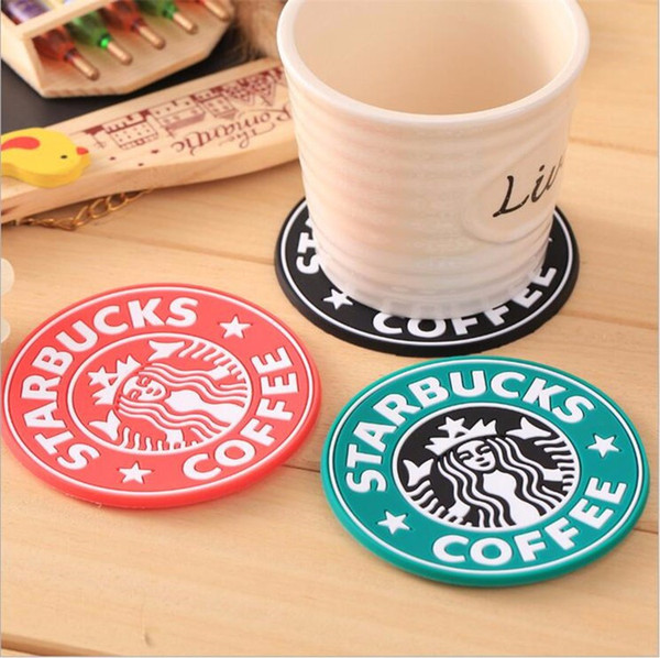 Creative Silicone Coasters Cup thermo Cushion Holder Starbucks sea-maid coffee Coasters Fashion Cup Mat Table Accessories