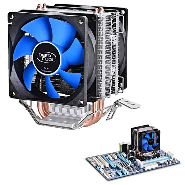 VONETS Dual Heat Sink Pipes CPU Cooler Heatsink Cooling Fan Desktops Computer for Intel LGA1150 1155 775 1156 AMD Socket 100W