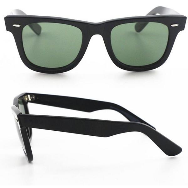 Top Quality Designer di stile occidentale Txrppr Occhiali da sole Uomo Classic Angle Black Plank Frame Occhiali da sole 50 mm UV400 con scatola in pelle marrone