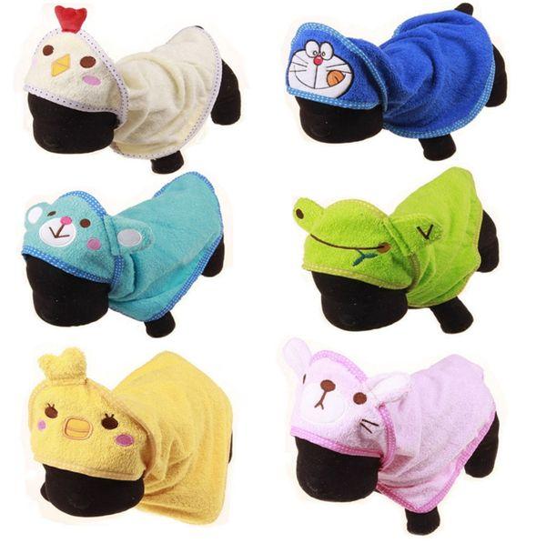 Pet Cartoon Acrylic fibres cotton bath towel, cute animal bathrobe, pet dog towel 6 styles Dog Grooming towels I338.