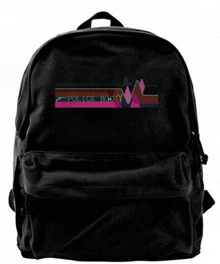 Respect hero Police Booty Fashion Canvas Best Backpack Unique Camper Backpack For Men & Women Teens College Travel Daypack