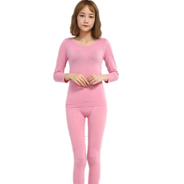 100% Cotton Turtleneck Lover Thermal Underwear Mostly Female Winter Pajamas Long Johns Women Panties Underwear Warm Suit Cloth