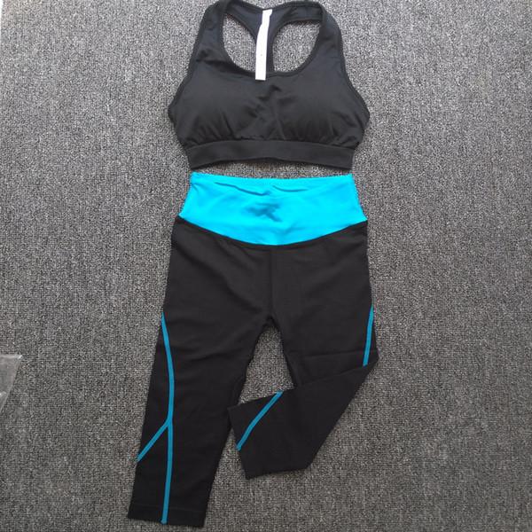 Conjuntos de esportes das mulheres correndo Aptidão Sportswear wowan Yoga roupas Ternos de secagem rápida bras sports calças de Exercício conjuntos