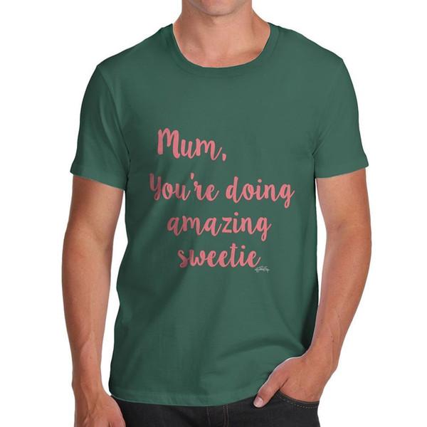 Смешные футболки для парней мама ты делаешь удивительные сладкие Мужские футболки