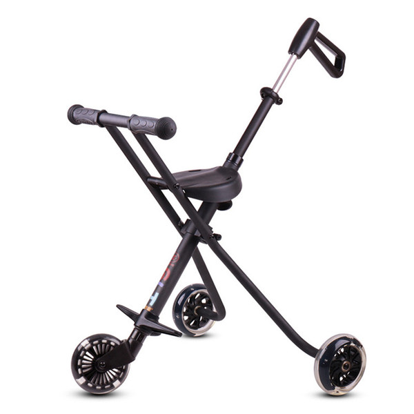 3-8 years Factory Outlet Stroll Wafer Artifact Aluminum Alloy Child Folding Skateboard Three Wheeled Trolley Child Stroller Baby carriage