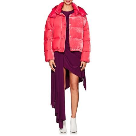 Brand Design 2019 neue Luxus Damen Samt abnehmbare auch Hut kurze Daunenjacke dicken warmen Mantel Mode rosa Pike mon3cler