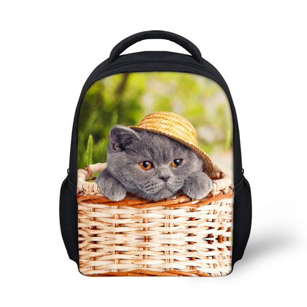 Cute Animal Pet Cat Dog Print School Bag for Baby Small Princess Girls Kindergarten Schoolbag Cute Child Book Bags Kids