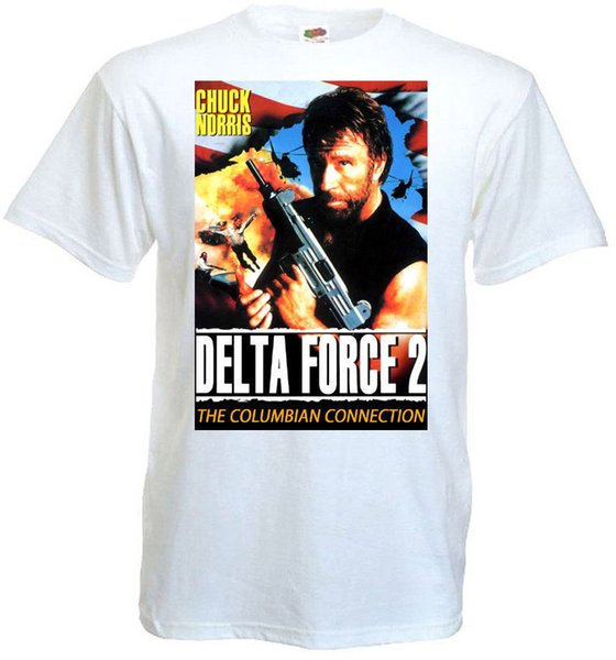 T Shirt Shop Novelty Delta Force 2 Ver.2 T-Shirt White Movie Poster All Sizes S To 3XL Crew Neck Short-Sleeve Mens Tees