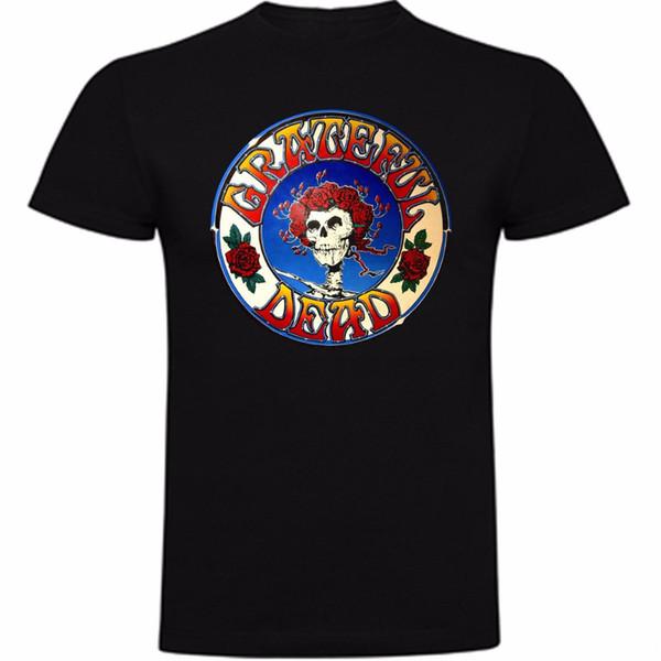 Mâle Batterie Drôle Coton Tops Nouveau 2018 D'été Hommes 100% Coton Livraison Gratuite Mode Camiseta Grateful Mort T-Shirt Coton