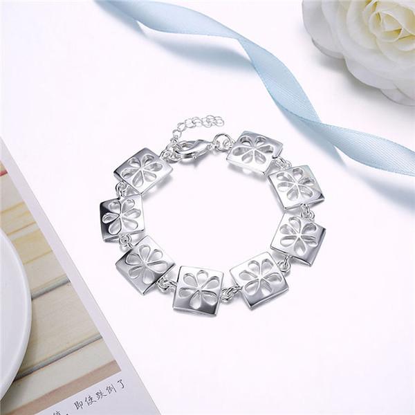 New arrival!Women's fashion diamond Ball Bracele925 silver bracelet JSPB648;low price girl women sterling silver plated Chain link bracelets