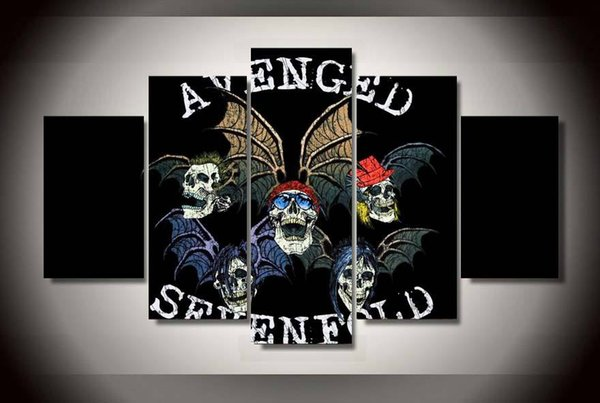 LARGE 5Panels Avenged Sevenfold a7x Rock Poster Giclee Canvas Prints Home Decor interior (No Frame)