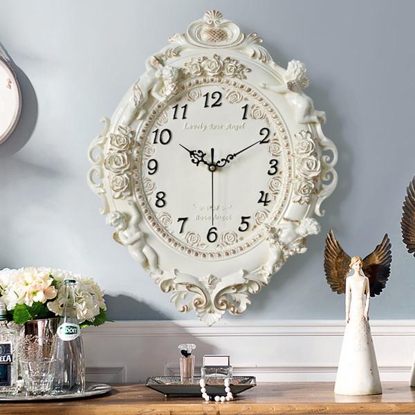 Großhandel Europäische Kreative Dekorative Wanduhr Wohnzimmer Schlafzimmer  Stille Uhr Hotel Restaurant Wand Charts Von Aurorl, $106.63 Auf ...